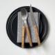 SABRE ビストロ ディナーナイフ チーク材×マットステンレス カトラリー サーブル フランス【ネコポスOK】