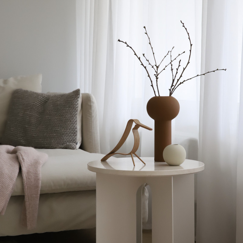 Cooee Design 花瓶 ボールフラワーベース 8cm シェル 北欧 スウェーデン