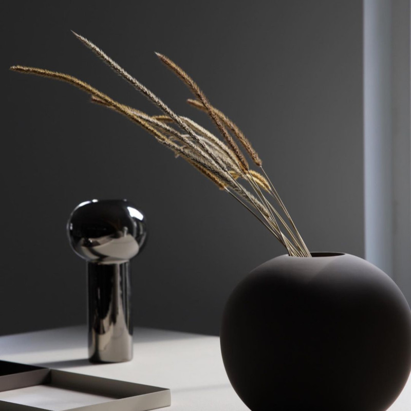 Cooee Design ピラー フラワーベース 24cm ダークシルバー 花瓶 北欧 スウェーデン