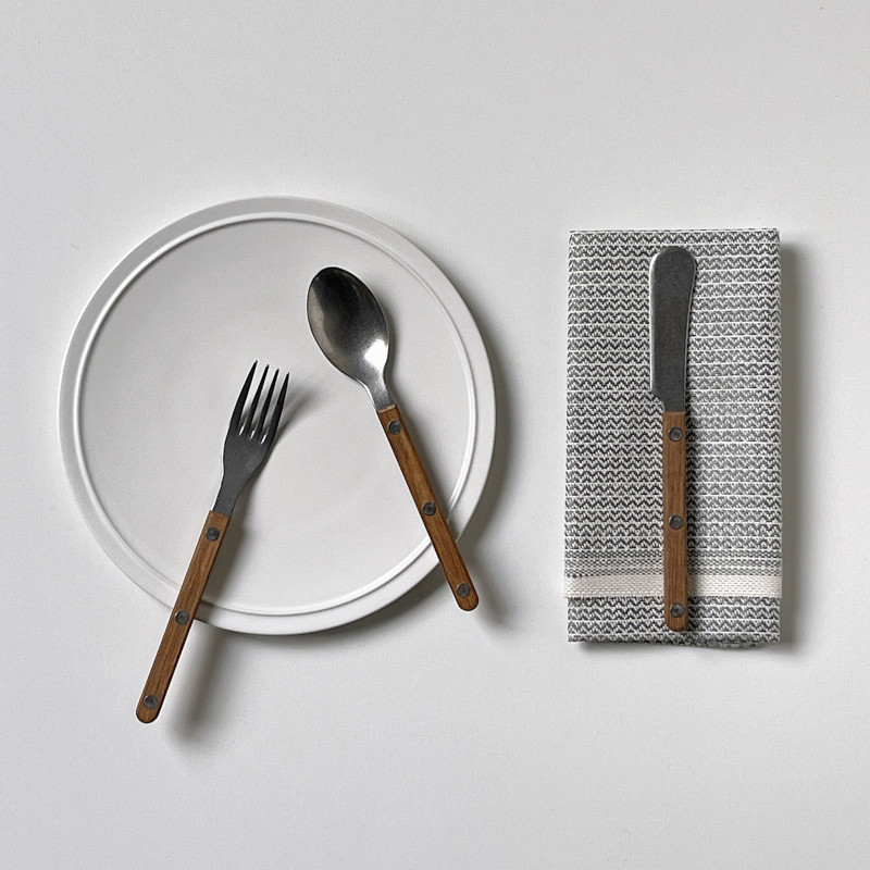 SABRE ビストロ バターナイフ チーク材×マットステンレス カトラリー サーブル フランス【ネコポスOK】
