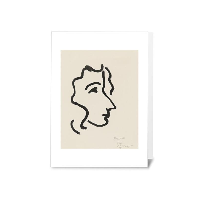 Henri Matisse アンリ マティス メッセージカード 2枚セット Nadia with Smooth Hair/Nadia in Sharp Profile フランス【ネコポスOK】