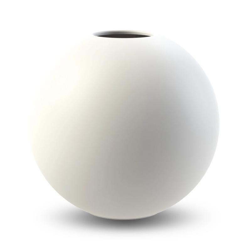 Cooee Design ボールフラワーベース 30cm ホワイト 花瓶 北欧 スウェーデン