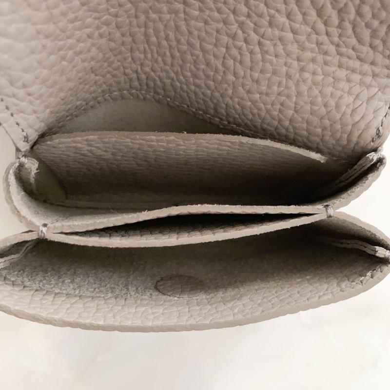 STUDIO LA CAUSE シュリンクレザー 内縫いフラップ カード&コインケース/ミニ財布 ブラック 日本製