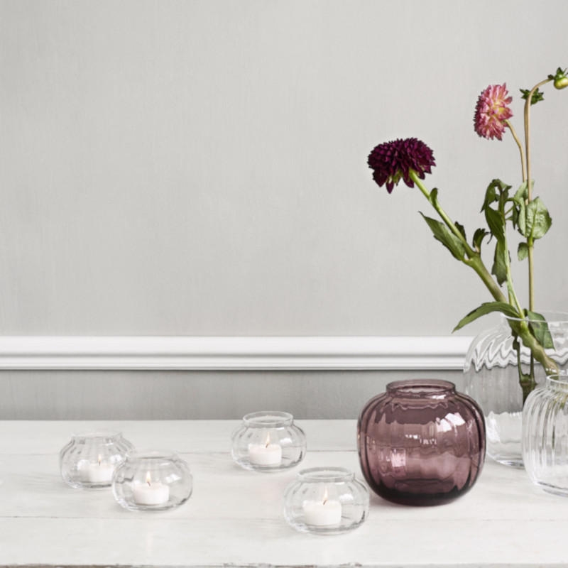 HOLMEGAARD ティーライト キャンドルホルダー クリア PRIMULA ガラス プリムラ ホルムガード 北欧 デンマーク