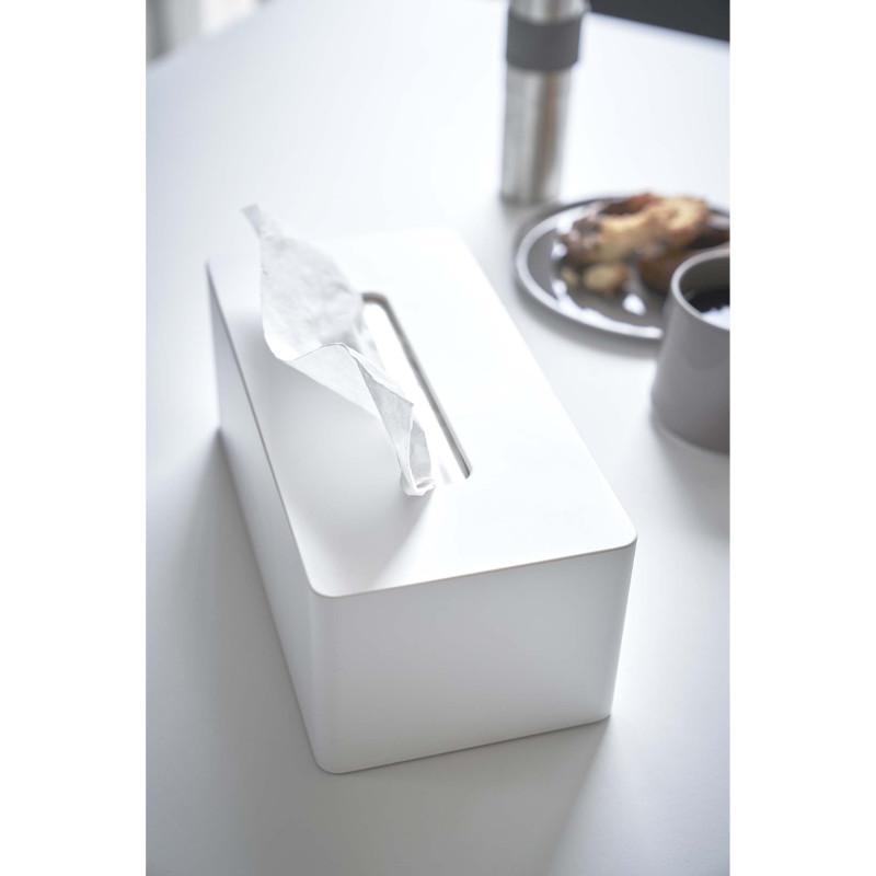 厚型OK!ティッシュ/キッチンペーパーケース ホワイト マグネット付き YAMAZAKI 日本