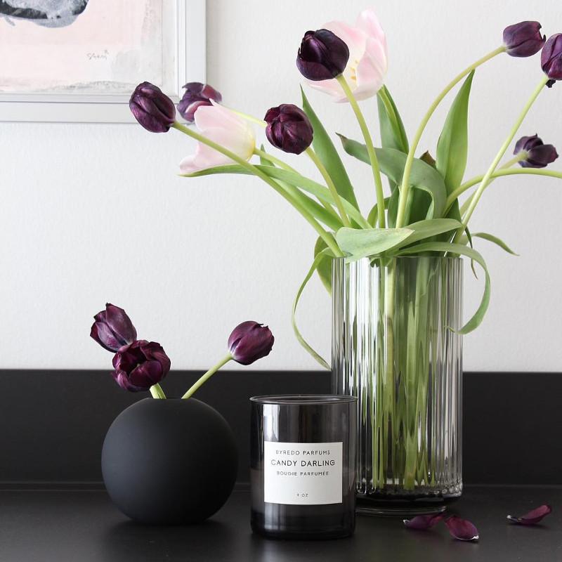 Cooee Design ボールフラワーベース 8cm ブラック 花びん 北欧 スウェーデン