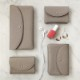 STUDIO LA CAUSE シュリンクレザー 内縫いフラップ カード&コインケース/ミニ財布 ベージュ 日本製