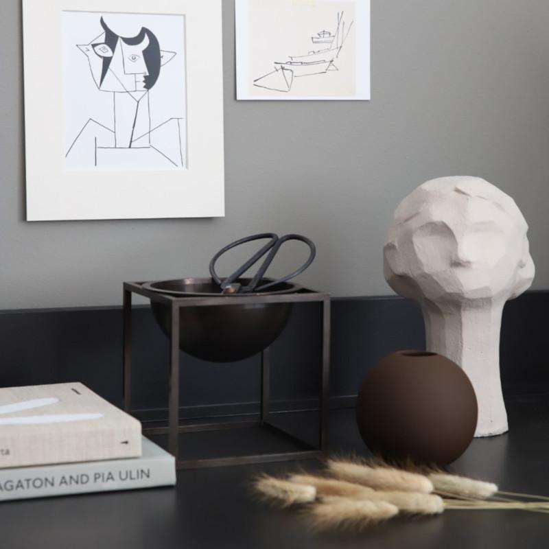 Cooee Design 花瓶 ボールフラワーベース 10cm コーヒー 北欧 スウェーデン
