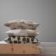 Fine Little Day モミの木柄 クッションカバー 麻 コットンキャンバス マスタード ファインリトルデイ 北欧 スウェーデン【ネコポスOK】