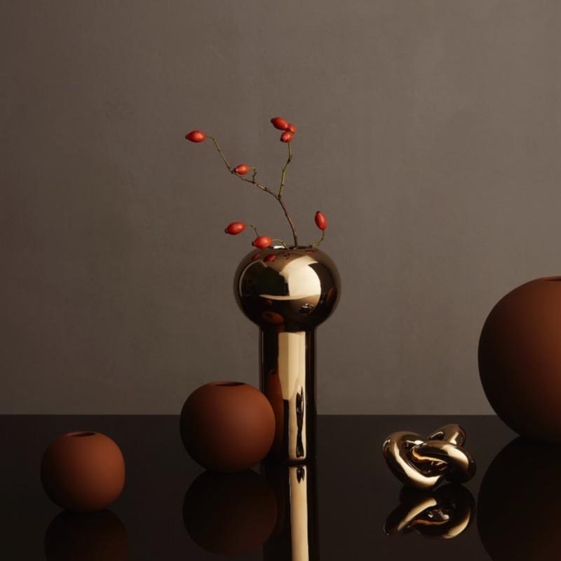 Cooee Design ピラー フラワーベース 24cm ゴールド 花瓶 北欧 スウェーデン