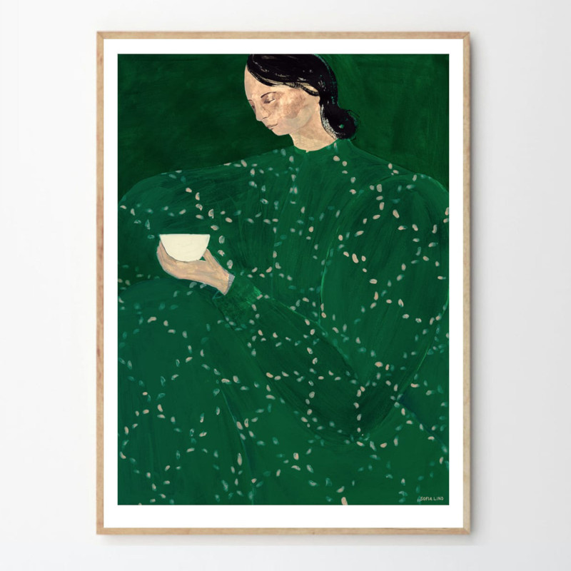 THE POSTER CLUB COFFEE ALONE AT PLACE DE CLICHY 30x40cm アートポスター 北欧 デンマーク