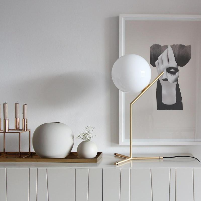 Cooee Design ボールフラワーベース 8cm サンド 花びん 北欧 スウェーデン