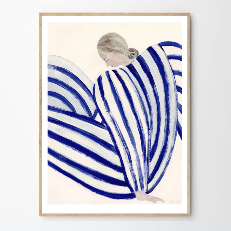 THE POSTER CLUB BLUE STRIPE AT CONCORDE 50x70cm アートポスター 北欧 デンマーク