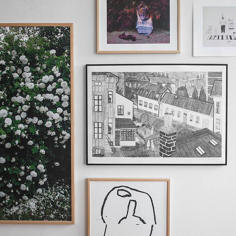 Fine Little Day HOUSE ポスター 70x50cm ファインリトルデイ 北欧 スウェーデン
