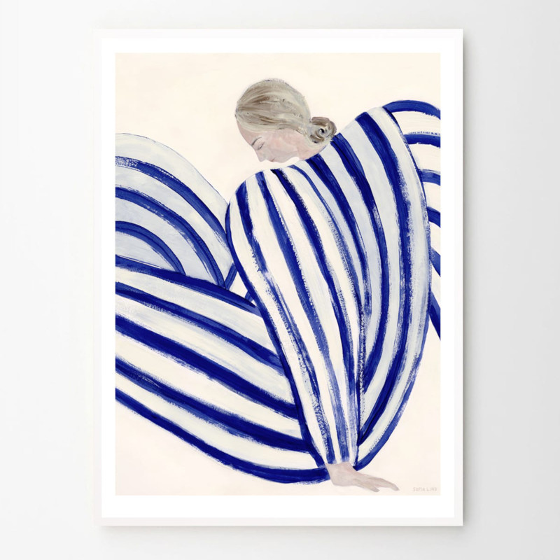 THE POSTER CLUB BLUE STRIPE AT CONCORDE 30x40cm アートポスター 北欧 デンマーク