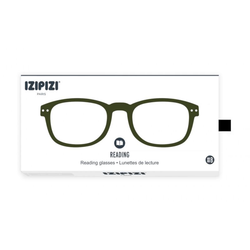 IZIPIZI パリのおしゃれな老眼鏡 リーディンググラス #B 長方形 カーキ フランス