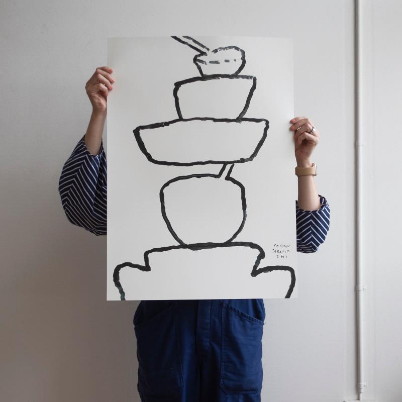 Fine Little Day ON THE SOFA ポスター 50x70cm ファインリトルデイ by Mogu Takahashi 北欧 スウェーデン