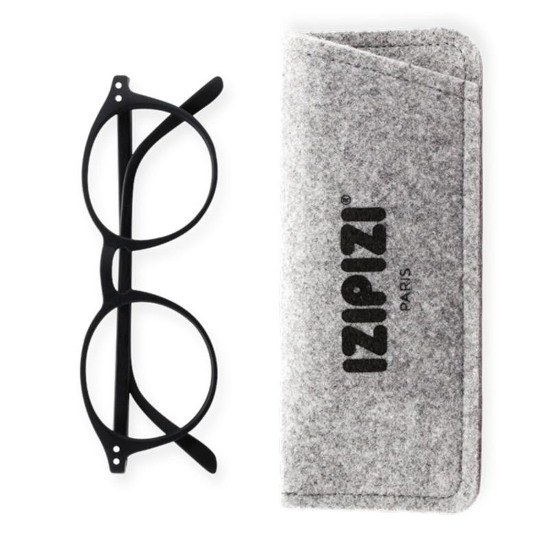IZIPIZI パリのおしゃれな老眼鏡 リーディンググラス #D 円形 ブラック フランス