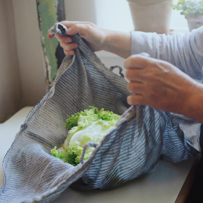 KARIN CARLANDER キッチンタオル グリーン YINYANG 麻 50x70cm TEXTILE NO. 4 ティータオル ふきん カリンカーランダー 北欧 デンマーク【ネコポスOK】
