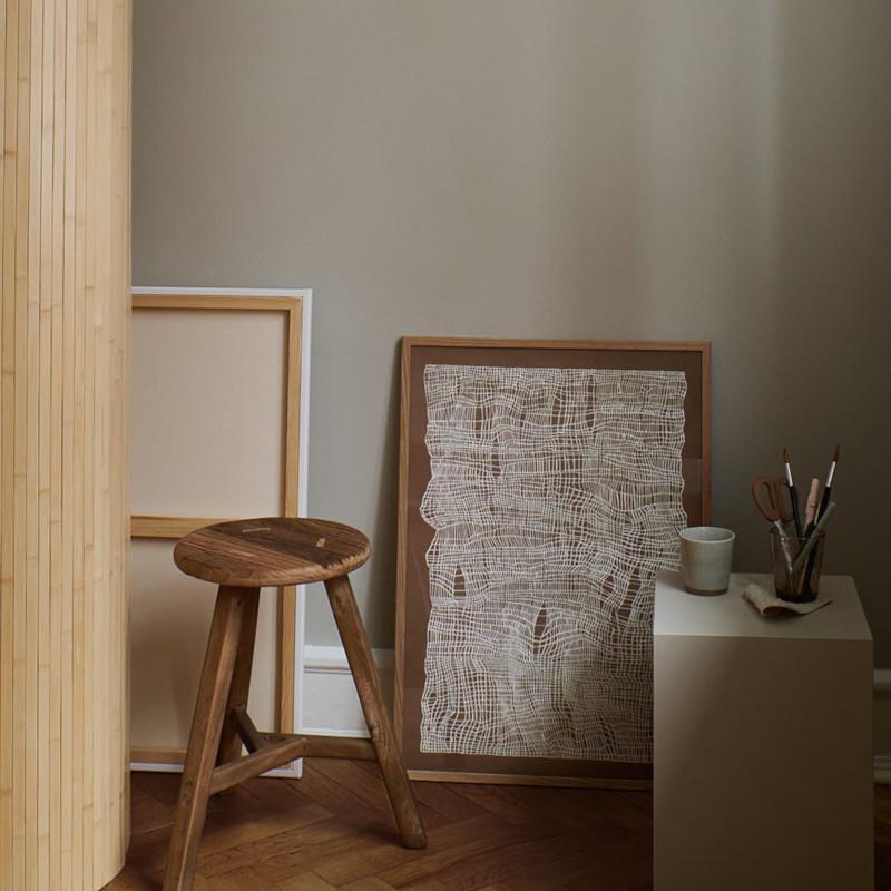 THE POSTER CLUB タイムライン ブラウン 30x40cm アートポスター 北欧 デンマーク