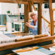KARIN CARLANDER キッチンタオル 黄土色 ZIGZAG 麻 50x70cm TEXTILE NO. 4 ティータオル ふきん カリンカーランダー 北欧 デンマーク【ネコポスOK】