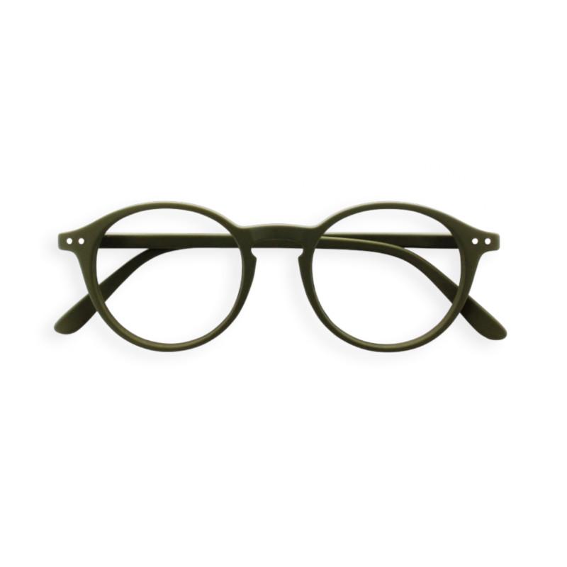 IZIPIZI パリのおしゃれな老眼鏡 リーディンググラス #D 円形 カーキ フランス