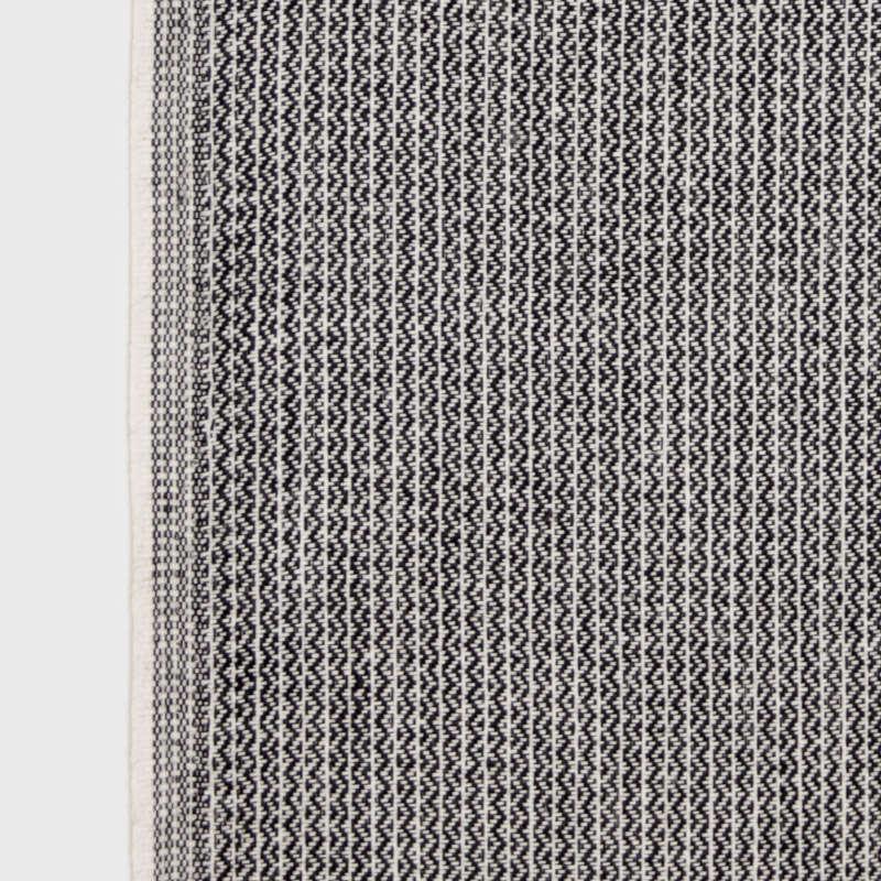 KARIN CARLANDER 小ぶりな多目的クロス 麻 ふきん ナプキン ハンドタオル ブラック SASHIKO 25x50cm TEXTILE NO. 9 カリンカーランダー 北欧 デンマーク【ネコポスOK】