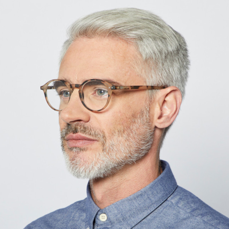 IZIPIZI パリのおしゃれな老眼鏡 リーディンググラス #D 円形 明るいベッコウ フランス