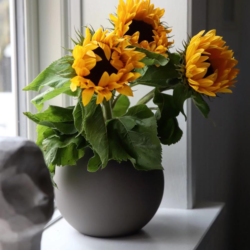 Cooee Design ボールフラワーベース 20cm マッドブラウン 花瓶 北欧 スウェーデン