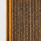 KARIN CARLANDER 小ぶりな多目的クロス 麻 ふきん ナプキン ハンドタオル 黄土色 ZIGZAG 25x50cm TEXTILE NO. 9 カリンカーランダー 北欧 デンマーク【ネコポスOK】