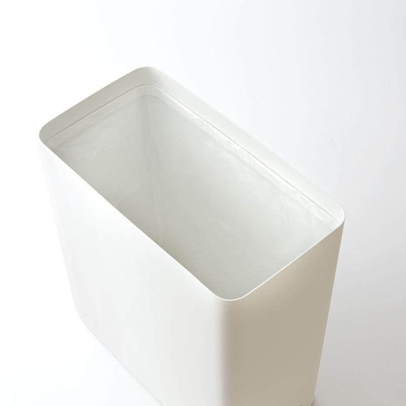 モノトーン 質感いいです!スチールトラッシュカン 角形 ホワイト ごみ箱 YAMAZAKI 日本