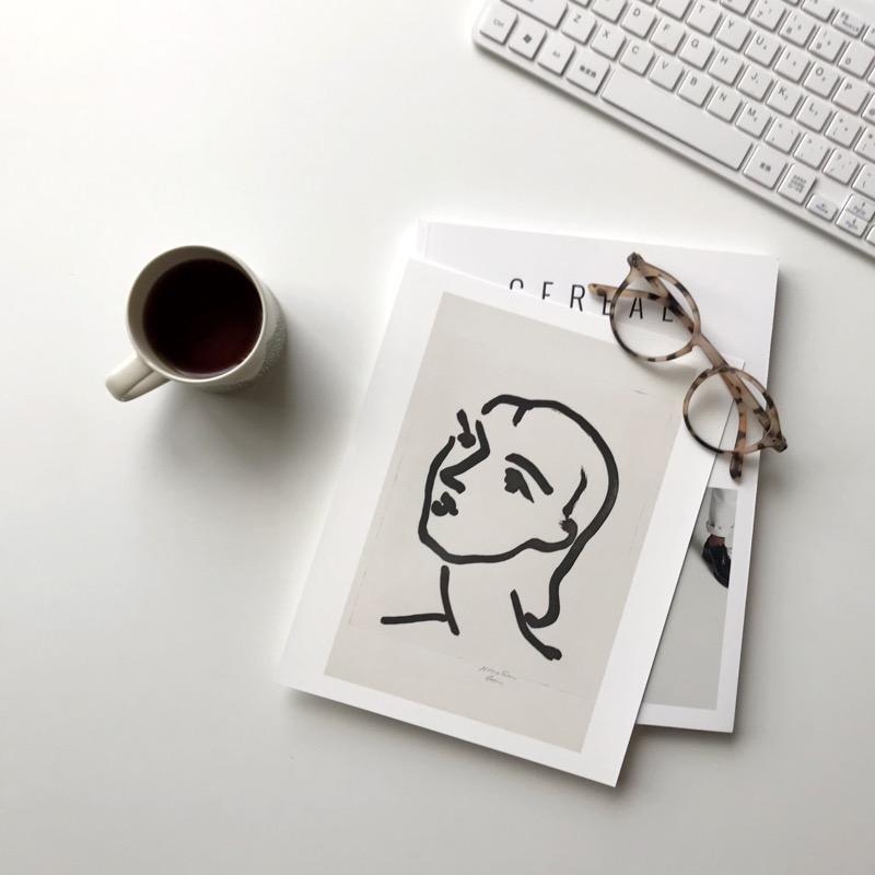 Henri Matisse アンリ マティス Nadia with Smooth Hair A4変形 アートポスター フランス【ネコポスOK】