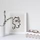 Henri Matisse アンリ マティス Nadia in Sharp Profile A4変形 アートポスター フランス【ネコポスOK】
