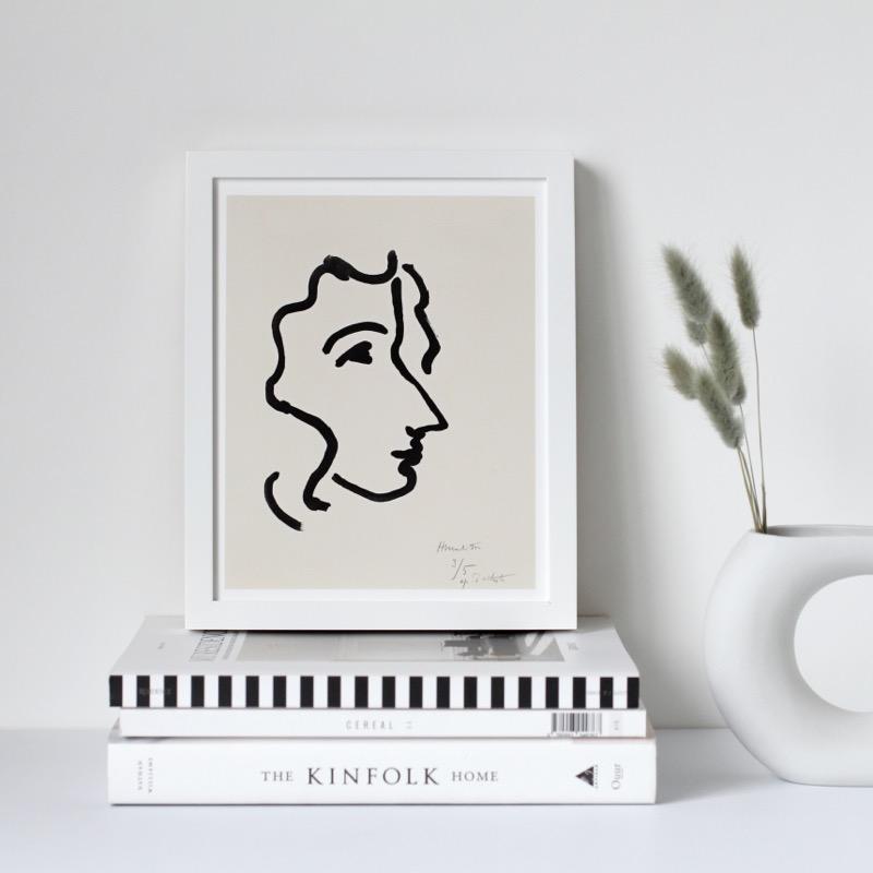 Henri Matisse アンリ マティス Nadia in Sharp Profile A3変形 アートポスター フランス