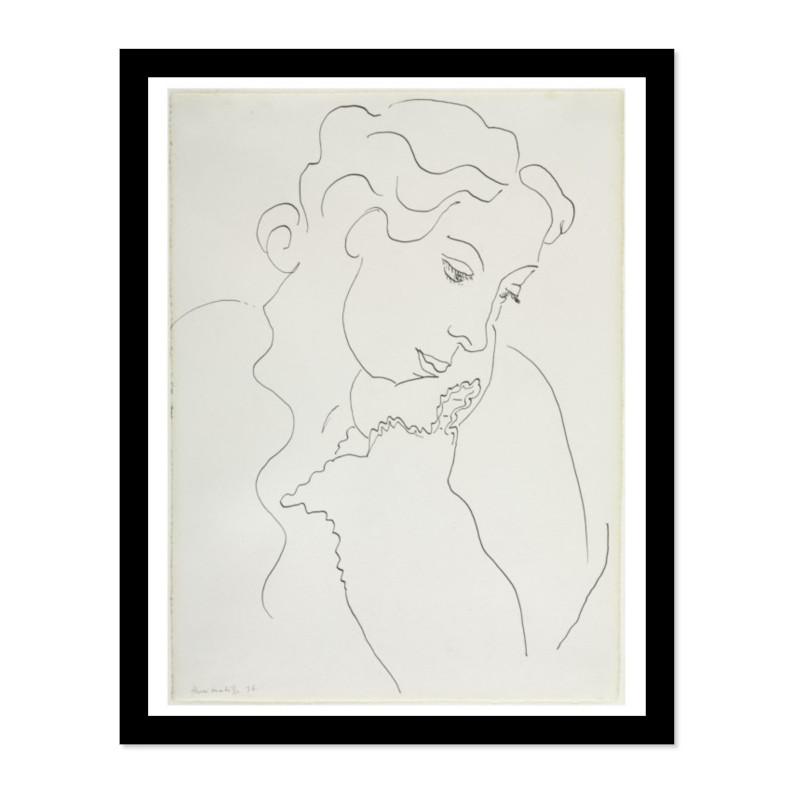 Henri Matisse アンリ マティス Three Quarter Profile A3変形 アートポスター フランス