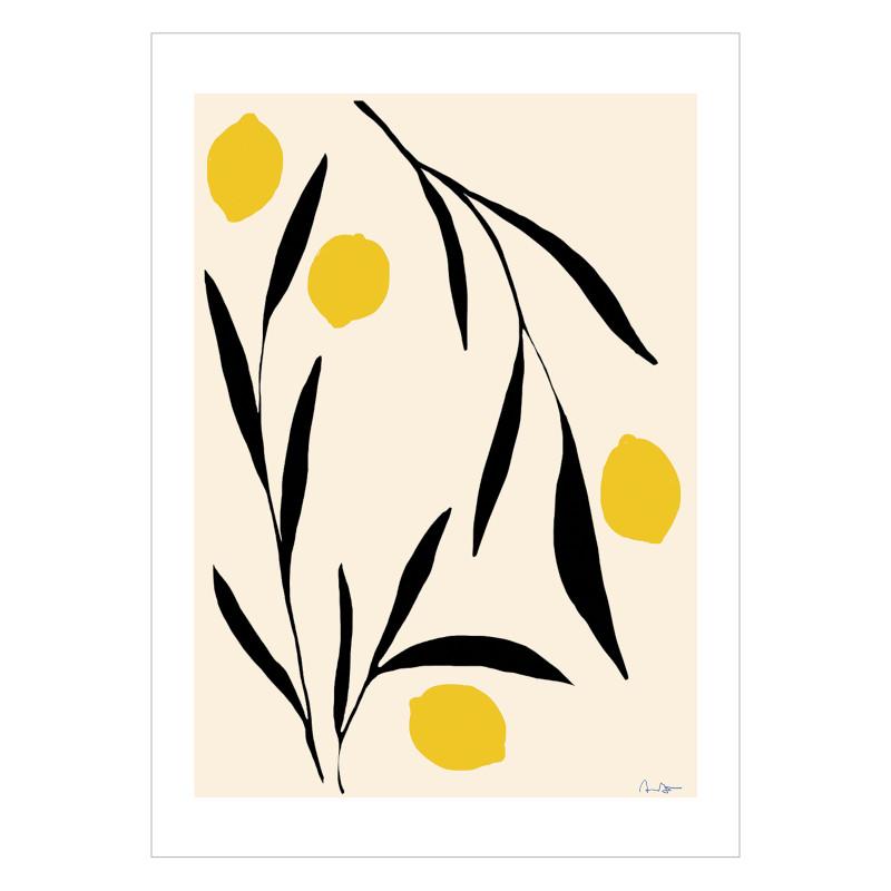 【小さめ】THE POSTER CLUB レモン A4 アートポスター 北欧 デンマーク