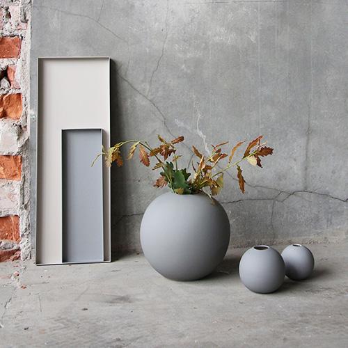 Cooee Design ボールフラワーベース 20cm グレー 花びん 北欧 スウェーデン