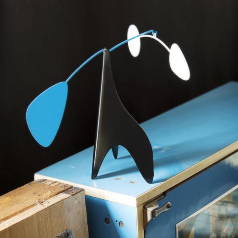 Ekko Workshop 置き型 モビール H20.5cm ブラック・ホワイト・ブルー  卓上 アメリカ ポートランド
