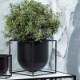 by Lassen Kubus フラワーポット 23cm ブラック 植木鉢カバー 北欧 デンマーク