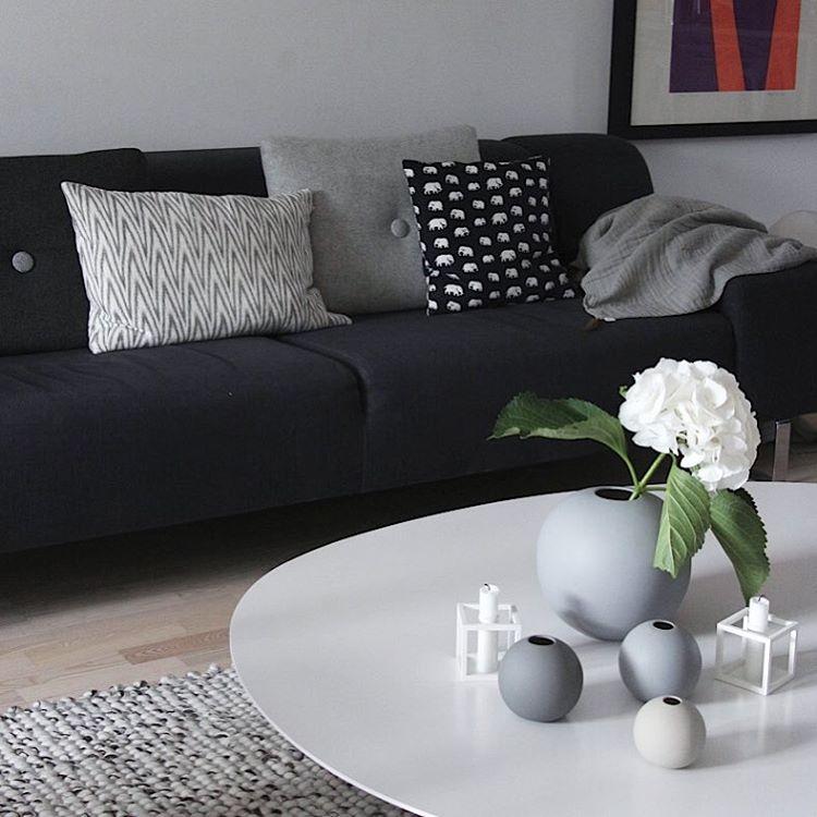 Cooee Design ボールフラワーベース 10cm グレー 花びん 北欧 スウェーデン