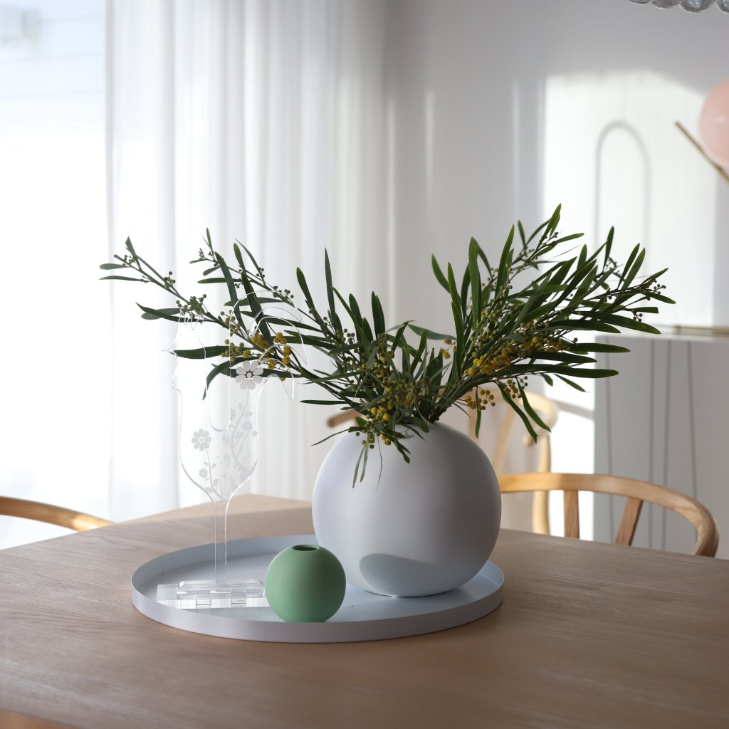 Cooee Design 丸トレー 40cm ホワイト 北欧 スウェーデン