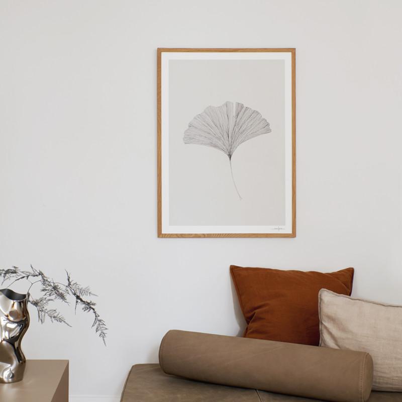 THE POSTER CLUB 銀杏の葉 30x40cm アートポスター 北欧 デンマーク