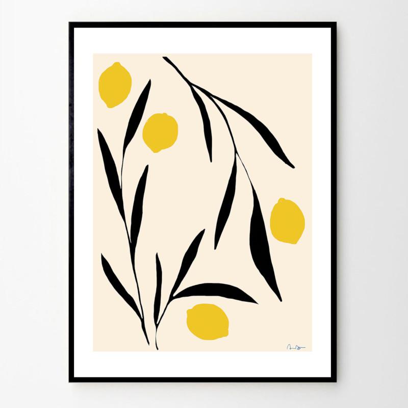 THE POSTER CLUB レモン 50x70cm アートポスター 北欧 デンマーク