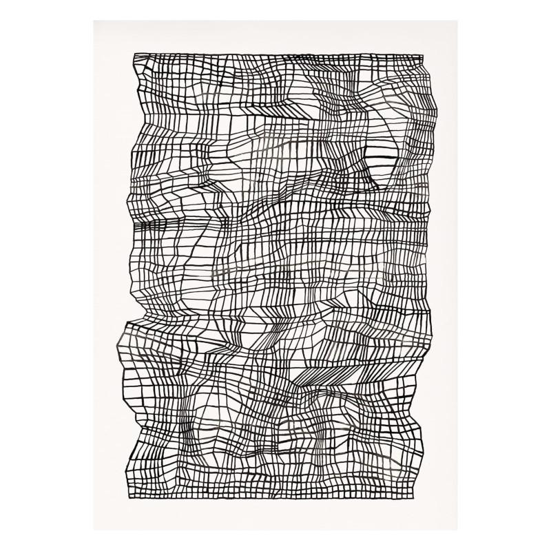 THE POSTER CLUB タイムライン ブラック 40x50cm アートポスター 北欧 デンマーク