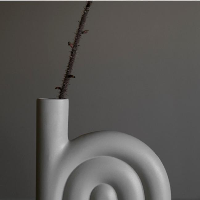 DBKD ROPE フラワーベース 25cm グレージュ 花瓶 北欧 スウェーデン