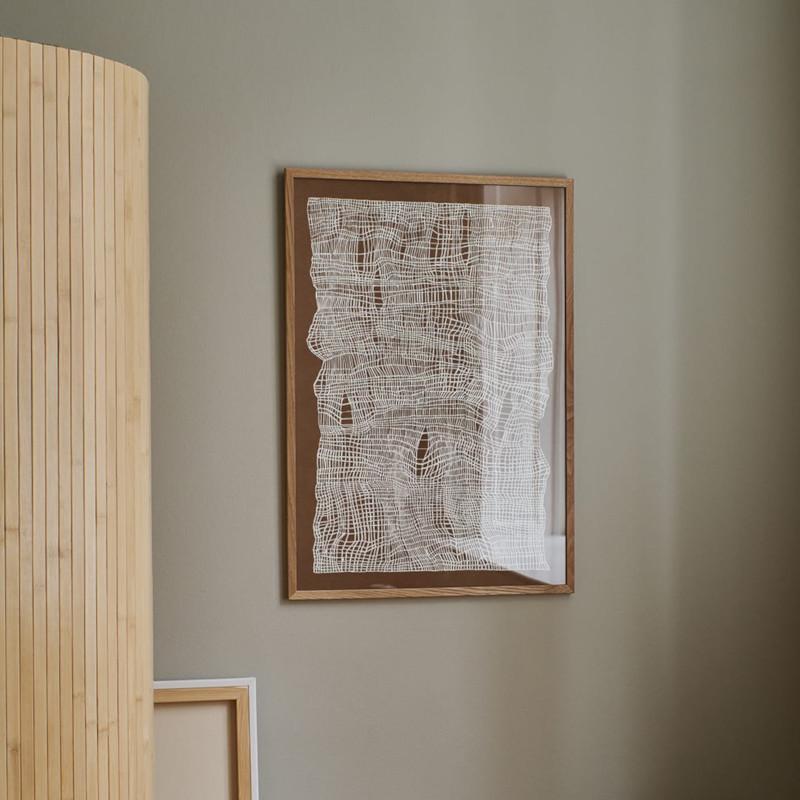 THE POSTER CLUB タイムライン ブラウン 50x70cm アートポスター 北欧 デンマーク
