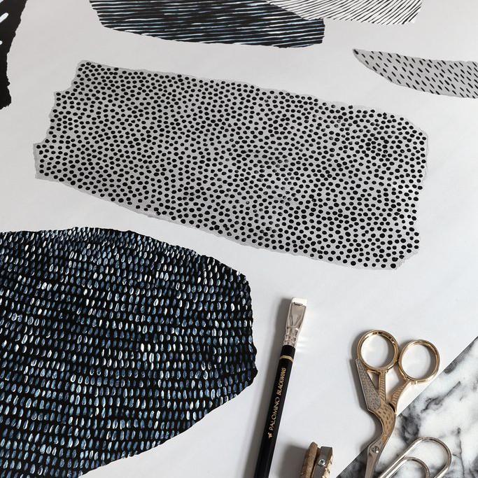 Coco Lapine Design Abstrakt No.2 アートプリントポスター 50x70cm ベルギー/ドイツ