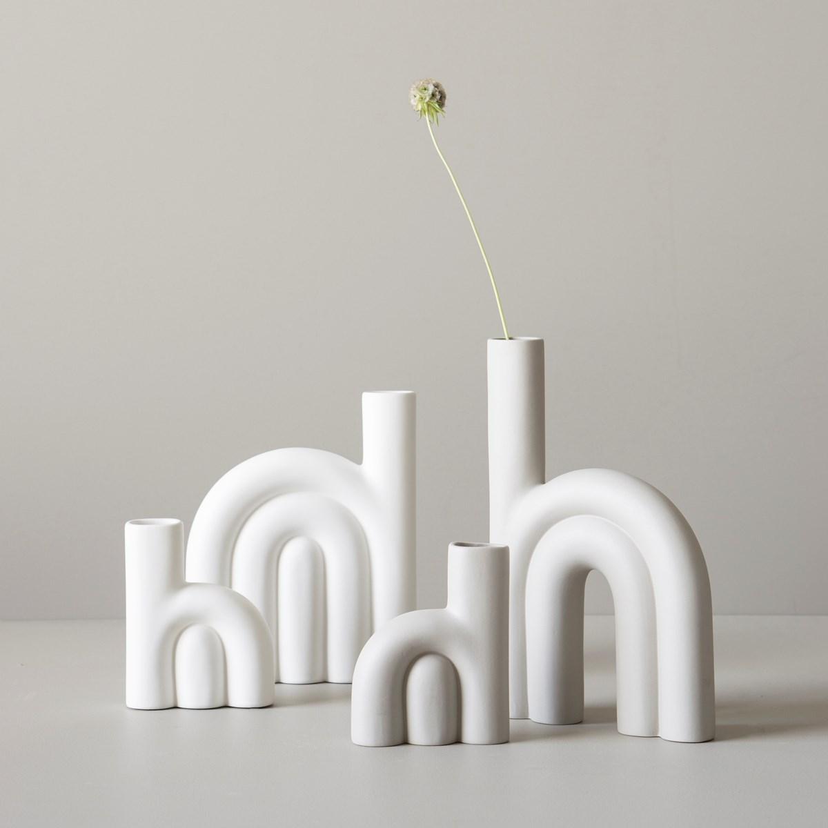 DBKD ROPE フラワーベース 15cm ホワイト 花瓶 北欧 スウェーデン