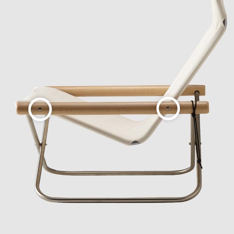 【送料無料】ニーチェアエックス 交換用ネジ 4本 ※肘かけと本体パイプをつなぐネジ