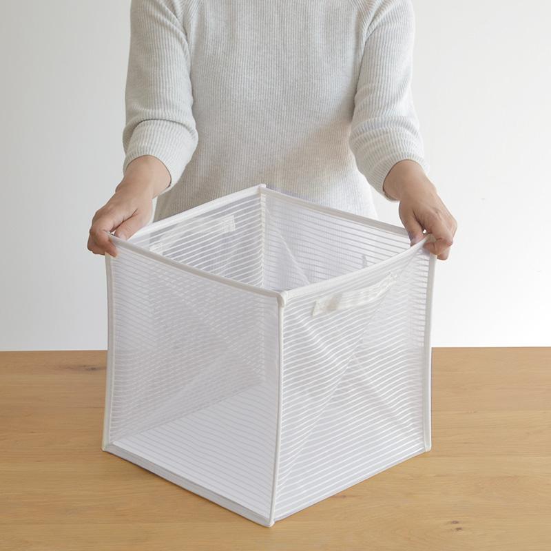 Pettan(ペッタン) 折りたたんで収納できる ランドリーバスケット / にくらす with HOME